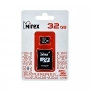 Карта памяти Mirex MicroSDHC 32GB Class 10 UHS-I + SD адаптер