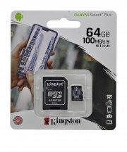 Карта памяти Kingston MicroSDHC 64GB Class 10 Canvas Select Plus A1 100MB/s