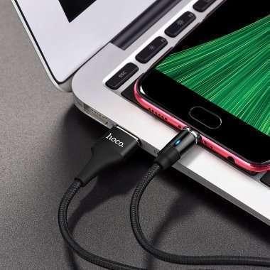 Кабель HOCO U76 магнитный (USB - micro-USB) черный — 4